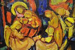at the end of the carnival: holy fools? (claude05) Tags: exhibition hölzelundseinkreis adolfhölzelanbetung adoration adoración