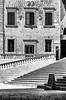 Pjazza Katidral, Victoria (Rabat) (albisserl) Tags: rabat victoria window pjazzakatidral fortifiction staircase gozo citadel bw stairs malta mlt