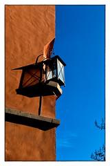 Little Lamp (Armin Fuchs) Tags: arminfuchs würzburg blue sky lamp moon niftyfifty