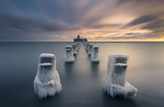 In The Grip Of Winter (artursomerset) Tags: torpedownia baltic sea frost winter ice water longexposure seascape frozen cold weather gdynia