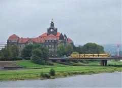Dresden, Carolabrücke 26.09.2014 (The STB) Tags: tram tramway strassenbahn strasenbahn streetcar dresden dresde publictransport öpnv citytransport tranvía