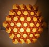 IOIO 2017 - Summer Sunshine (backlit) (Tankoda) Tags: ryoichi takagi travis nolan ioio 2017 international origami internet olympiad summer sunshine hexagon tesselation geometry geometric paper art backlit orange inside yellow sun