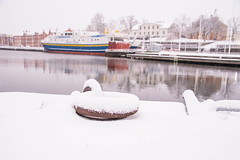 Winter by the marina (Maria Eklind) Tags: spegling reflection oskarshamn badholmen winter sweden outdoor småland weather vinter snow kalmarlän sverige se