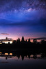 Angkor wat temple with morning sunrise and star (anekphoto) Tags: angkor wat cambodia sunrise landmark reap siem temple water travel reflection tourism sunset ancient asia religion lake monument ruin khmer cambodian sky old silhouette architecture night star milky way building buddhism sun culture stone asian religious worship buddhist hindu hinduism indochina thom tomb light rock river thailand morning blue park