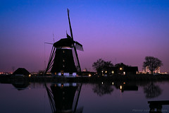 Windmill against Purple Sky (mesocyclone70) Tags: windmill mill holland netherlands dutch evening night nightphotography nightscape longexposure silhouette water waterscape reflections purple scenic scenery scene scenics scenicsnotjustlandscapes blue rottemeren rotte zevenhuizen bleiswijk bluehour bluesky thebluehour heureblue blauestunde sky