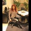 Enjoying a very relaxing day....... (ailananata) Tags: tgirl transvestit transgender tranny trap tucking sandals boots crossdresser cfmshoes redhead leather leggings