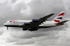 G-XLEB (FabioZ2) Tags: londra airbus a380841 britishairways atterraggio