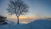 St. Lawrence River at Cornwall (Richard Pilon) Tags: winter ontario cornwall canon powershot river stlawrenceriver snow sunrise
