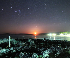 MoonSet - Isabela Island Galapagos Ecuador Astrophotography Panorama (astroval1) Tags: galapagos ecuador moon moonset puerto villamil isabelaisland astrophotography astronomy astronomylandscape nightlandscape nightphoto nightsky nightscape canonef1635mmf28liiusm canonastrophotography sk starrynight stargazing starscape night