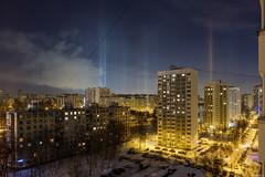 20180225DSCF4488-Edit (Gorshkov Igor) Tags: moscow night city winter cityscape atmospheric phenomenon light columns