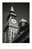 Four minutes past four (Parallax Corporation) Tags: southportatkinsongallery southport clocktower classicalarchitecture blackwhite monochrome seaside weathervane apex