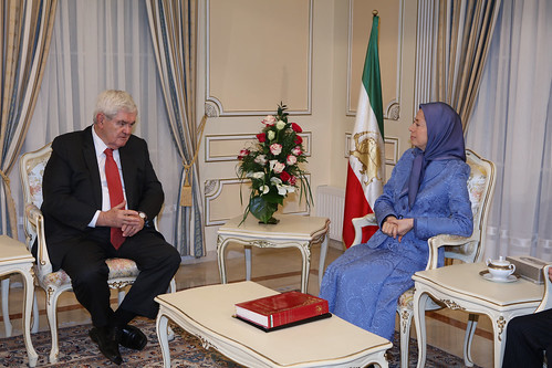 Maryam Rajavi meets and holds talks with former US House Speaker Newt Gingrich