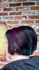New hair color (thischarmingamy) Tags: canvassalon andovermassachusetts shorthair rainbowhair blackhair bluehair purplehair