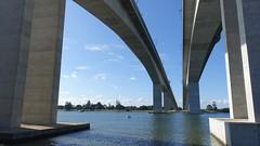 Twin bridges, Gateway Motorway, Brisbane, Australia (David McKelvey) Tags: urban motorway gateway bridge river brisbane queensland australia 2018 water dscrx100 engineering