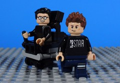 Wells and Allan (-Metarix-) Tags: lego super hero minifig dc comics comic flash reverse harrison wells barry allen cw show tv television student mentor