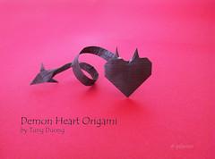 Demon Heart (polelena24) Tags: origami heart valentine demon onesheet 14