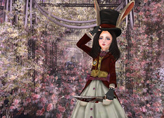 /(^ × ^)\ (donutelf2018) Tags: alice madness returns rabbit cosplay secondlife dress anime kawaii sl rp cute game