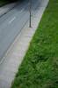 Nicht anhalten // Dont stop (apfelbla) Tags: street strase stadt stein strasse stone asphalt ground green grün grass gras grau grey greenery sidewalk bürgersteig lines linien line linie simplicity simple minimal minimalism minimalismus minimalistic minimalistisch diagonal diagonale upright hochformat