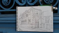 Niort, Pavillon Stéphane Grappelli ; ... je finirai au chaud (Croctoo) Tags: croctoo croctoofr croquis crayon niort poitoucharentes poitou ville