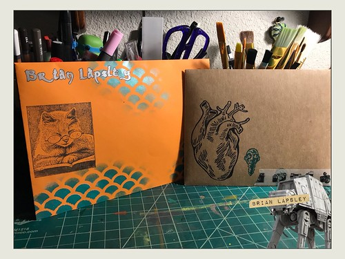Getting some outgoing mail together for some cool peeps... #snailmail #mailart #brianlapsley