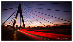 Anzac Bridge (Aperture Variance) Tags: ifttt 500px maciej nadstazik aperture variance photos world red twilight bridge purple skyline dawn long exposure australia dusk suspension sydney new south wales anzac