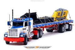 Truck T2 MkII v2.0 with Trailer Tr10b (Ingmar Spijkhoven) Tags: kenworth peterbilt mack freightliner western star big rig us truck fifth wheel 6x4 solid axle suspension servo exhaust detroit diesel dd15 18 wheeler lego technic ingmarspijkhoven