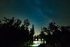 Lime Lake House Under the Stars (matthewkaz) Tags: limelake lake night sky stars astronomy milkyway astrophotography trees silhouette house cottage summer michigan cedar maplecity leelanau puremichigan 2017