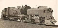 "War Department (Burma) - WD 2-8-0+0-8-2 ""Beyer Garratt"" type steam locomotive Nr. 4200 (later Nr. 74200) (Beyer Peacock Locomotive Works, Manchester-Gorton 7112 / 1943) (HISTORICAL RAILWAY IMAGES) Tags: steam locomotive bp beyerpeacock manchester gorton garratt wd burma railway"