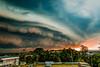 Smother (Kent Wilkins) Tags: 2018 kentwilkinsphotography sky sunset storm cell landscape canon ipswich queensland australia