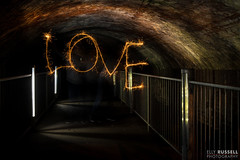 The Love tunnel 😂 (ellyrussellphotography) Tags: ellyrussellphotography nightphotography nightshots nikond810 paintingwithlight steelwool wirewool
