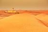 In the desert (Rita Eberle-Wessner) Tags: desert wüste sand arabiandesert dunes dünen fusspuren landschaft landscape arabia dubai hatta sharja schardscha mosque moschee alkawtharmosque reifenspuren tiretracks yellow gelb uae emirate