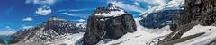Panoramic view on the six glaciers (Greg @ Montreal) Tags: banff lakelouise banffnationalpark glaciers glacier glace ice snow mountains mountain montagne montagnes rockies rocheuses alberta canada nikon nikonpassion d7100