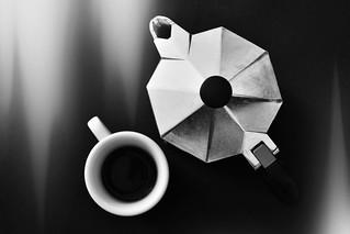 Black moka coffee