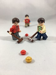 2018-055 - Curling (Steve Schar) Tags: 2018 wisconsin sunprairie iphone iphone6s project365 lego minifigure curling olympics stone sweeping broom howardwolowitz sheldoncooper leonardhofstadter