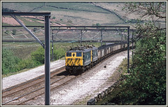 Longdendale Re-boot (david.hayes77) Tags: 76006 76015 class76 crowden derbyshire longdendale 1977 manchestersheffieldwath the woodhead route freight coal mineralwagons em2 msw nationalcyclenetworkroute62 1500v dc catenary ohle b6105 gcr greatcentralrailway