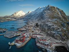 Over Lofoten (Bliss Photo) Tags: norway norge norwegian lofoten islands winter snow lekens aerial drone