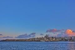 Humilissima Civitas (Douguerreotype) Tags: sunset city church buildings cityscape malta architecture blue valletta water