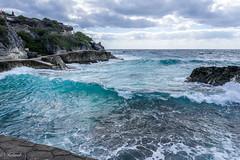 la vague (Hélène Baudart) Tags: vague bleu mer yucatan mexique transparence