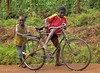 Big Bike (Rod Waddington) Tags: africa african afrique afrika uganda ugandan bicycle big boys outdoor landscape culture cultural ethnic ethnicity children