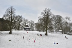 ParkView (Tony Tooth) Tags: nikon d7100 tamron 2470mm snow snowy winter wintry park people broughpark leek staffs staffordshire march
