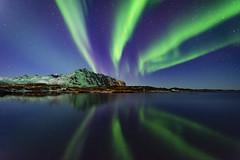 Eggum aurora (Lukasz Lukomski) Tags: lofoten norway lukaszlukomski landscape krajobraz northernlights