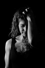 Silvia (Raul Cayuelas Fotografia) Tags: raulcayuelasfotografia raulcayuelas sad eyes blancoynegro blackwhite girl woman women retrato portrait silvia blackdiamond