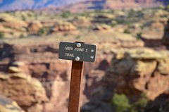 To View Point 2 (Joe Shlabotnik) Tags: nationalpark utah sign 2017 canyonlands november2017 canyonlandsnationalpark afsdxvrzoomnikkor18105mmf3556ged