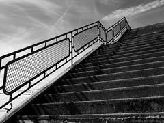 stairway to? (alain.winterberger) Tags: stairway stairs escalier monochrome blackwhite bnw nb noiretblanc noirblanc lumix gx80 panasonic