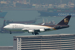 N570UP UPS 747-400F HKG (ColinParker777) Tags: n570up ups 5x united parcel service boeing 747 744 747f 744f 747400f jumbo plane airplane aeroplane aircraft aviation flying finals approach landing marriott hotel hong kong vhhh hkg chak lep kok airport cosco ship container barge ferry canon 7d 7d2 7dmkii 7dmk2 200400 l zoom lens telephoto