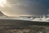 The wind is getting stronger (hanschristian_nielsen) Tags: ferring ferringstrand bovbjerg jylland jutland denmark vesterhavet northsea sea coast beach wave storm people sand cliff sunshine sky cloud splash seagull bird dog
