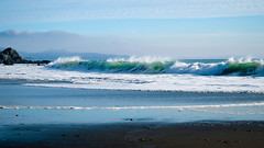 Dancing Waves (San Francisco Gal) Tags: wave surf ocean pacific rock beach sand spume marincounty california