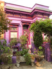 San Francisco, CA, Noe Valley, Colorful Victorian Cottage (Mary Warren 9.8+ Million Views) Tags: sanfranciscoca noevalley architecture building house residence pink purple garden lavender pottedplants nature flora plants