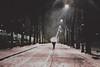 Torino, december snow (lanevegianluca) Tags: yashica fx3 super 2000 street torino night neve snow italia urban ombrello analog film pellicola fujifilm xtra400 rullino analogica resistenza