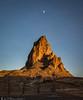 Moon over Agathla (Bill Bowman) Tags: agathla aghaałą́ elcapitan navajonation arizona sunset moonrise